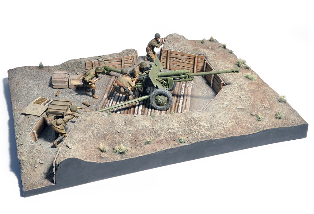 new zis 3 gun emplacement in 1 35 from miniart plastic models world. Black Bedroom Furniture Sets. Home Design Ideas