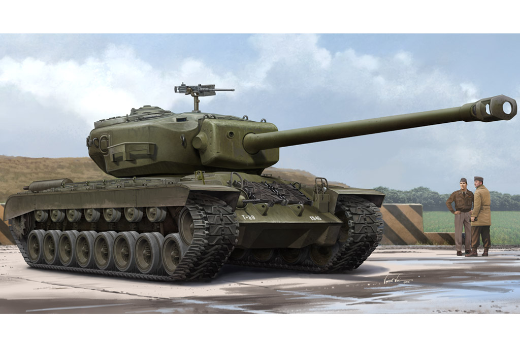 Just released: Trumpeter T29 heavy US tank in 1/35 ...