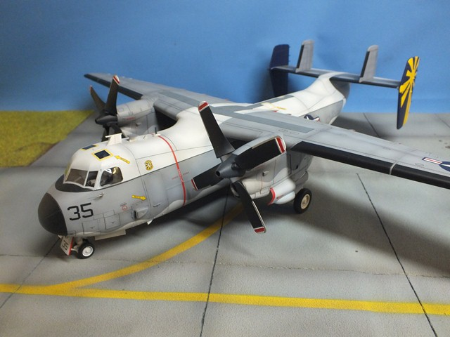 Model  text and images by Bob C 2a Greyhound Logistics Aircraft