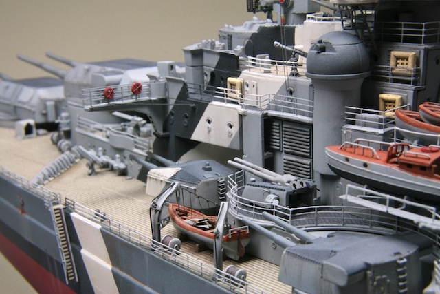 Bismark DKM Kriegsmarine battleship, Revell 1/350 | Plastic