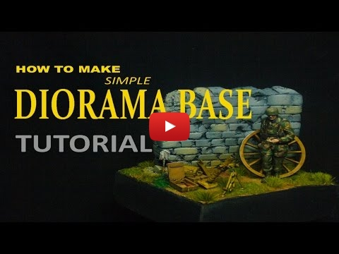 Embedded thumbnail for Diorama World - How to make a simple Diorama Base