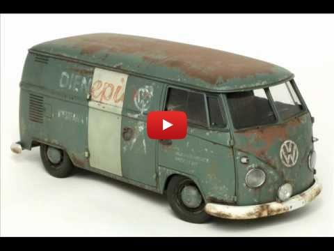 Embedded thumbnail for Quick Builds - Hasagawa 1967 Volkswagen Van 1-24