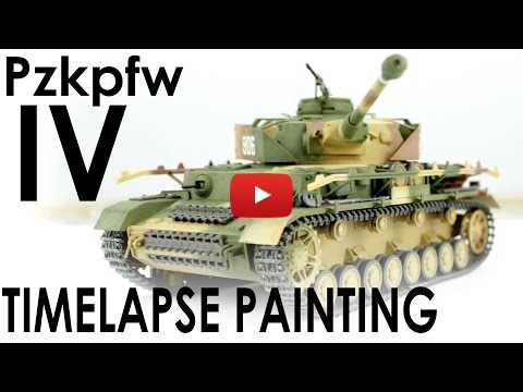 Embedded thumbnail for Painting only with Brushes the Tamiya Panzer IV