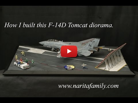 Embedded thumbnail for Tamiya F-14 Tomcat 1-32 diorama build