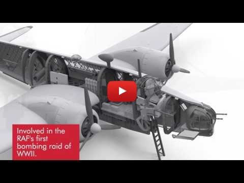 Embedded thumbnail for Incoming Airfix 1:72 Vickers Wellington Render Stills