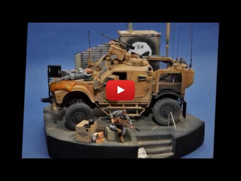 "Embedded thumbnail for Diorama World - MRAP MATV ""54"" full quick project"