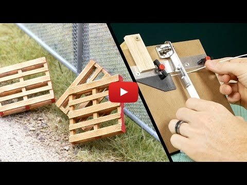Embedded thumbnail for Diorama World - How to scratch build Pallets