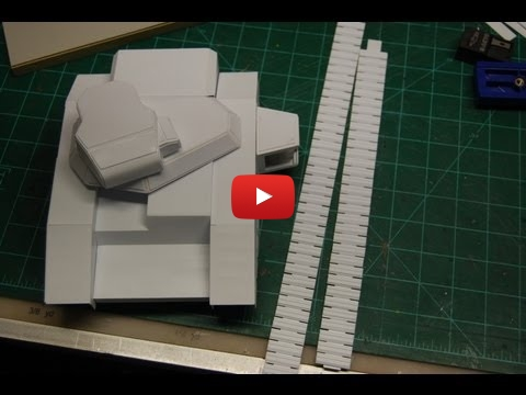 Embedded thumbnail for Warhammer 40K: scratchbuild track for a Baneblade tank