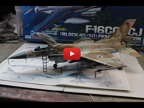 Embedded thumbnail for Full Build - Academy F-16C Barak 1/32 scale