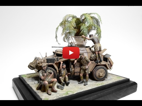 Embedded thumbnail for Diorama World - SdKfz 222 palm tree