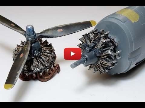 Embedded thumbnail for How to paint radial engine Video Tutorial