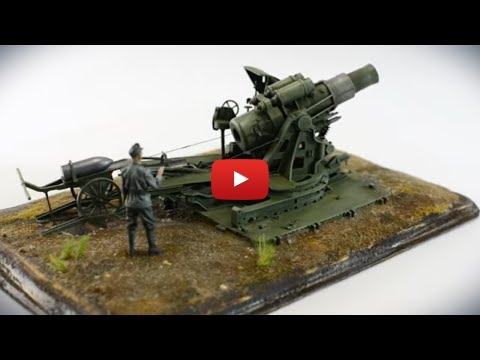 Embedded thumbnail for Stop Motion - Skoda Belagerungsmörser 30,5 cm, 1:35 WWI cannon