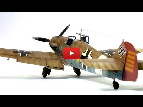 Embedded thumbnail for Full Build - BF109 F-4 Eduard 1-48 Hans-Joachim Marseille