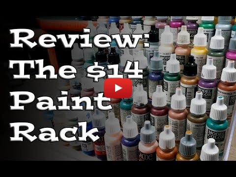 Embedded thumbnail for Review: The $14 Hobby Paint Rack