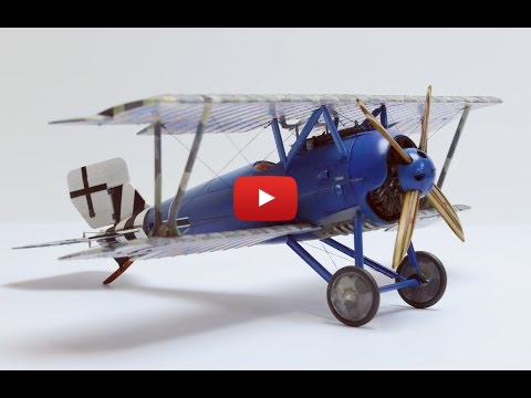 Embedded thumbnail for Stop Motion - Full build of Eduard SSW D.III 1/48