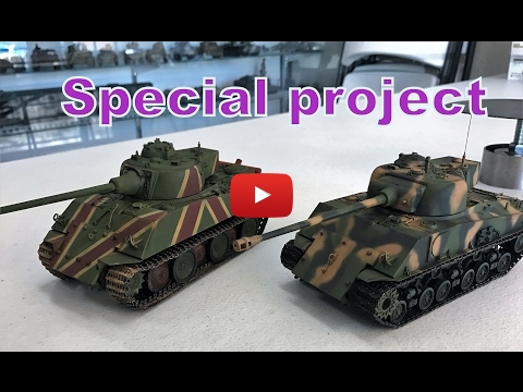 Embedded thumbnail for Full Build - 1/35 Panther-Sherman 1946 what if ?