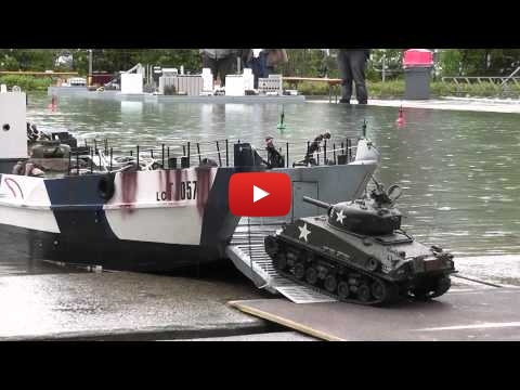 Embedded thumbnail for RC Boat - Landing Craft and Tanks at ASK Show Case 2014