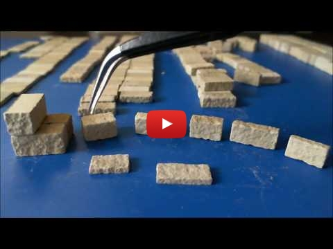 Embedded thumbnail for Review - 1/35 Stone Wall Blocks Silicon Rubber Mould