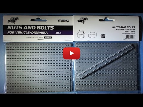 Embedded thumbnail for MENG Nuts And Bolts For Vehicle/Diorama