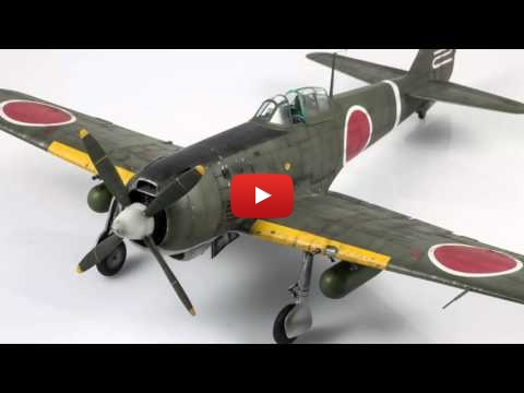 Embedded thumbnail for Full Build - Ki-84 Hayate Type 4 Hasegawa 1-48