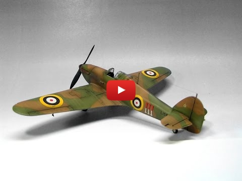 Embedded thumbnail for Full Build - Hawker Hurricane Mk.I Airfix 1/72