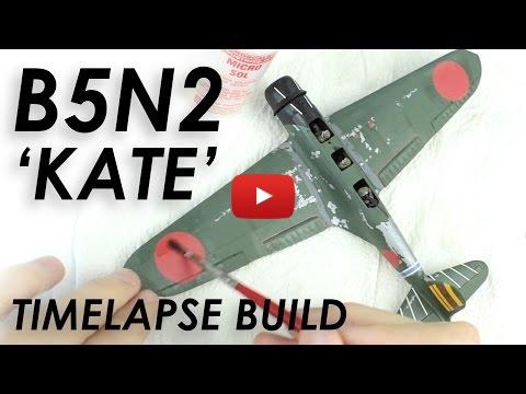 Embedded thumbnail for Full Build - Airfix B5N2 Kate Timelapse