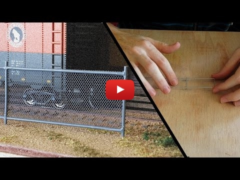 Embedded thumbnail for Diorama World - How to build a Chain Link Fence
