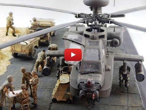 Embedded thumbnail for 1/35 Diorama Apache AH64-D Longbow Egypt