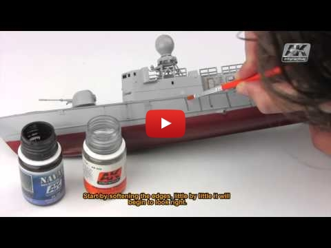 Embedded thumbnail for Review HowTo - AK305 Streaking Grime for Light Grey Ships