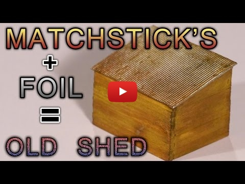 Embedded thumbnail for Diorama World - Building an Old Wooden Shed