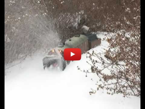 Embedded thumbnail for Model Snow Blower in Action