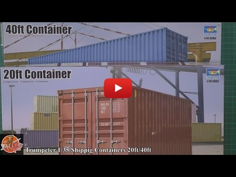 Embedded thumbnail for Review - Trumpeter 1/35th Shipping Containers