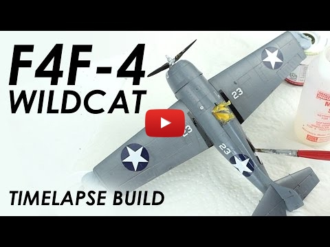 Embedded thumbnail for Full Build - Airfix F4F-4 Wildcat with NO Airbrush