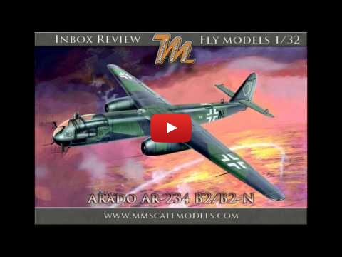 Embedded thumbnail for Review - Arado Ar-234 B-2/B-2N 1/32 Fly models