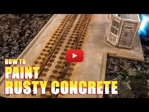 Embedded thumbnail for Diorama World - How to Paint Rusty Concrete