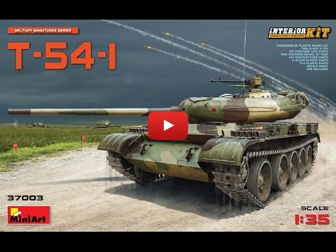 Embedded thumbnail for MiniArt T-54-1 video 3D CAD presentation