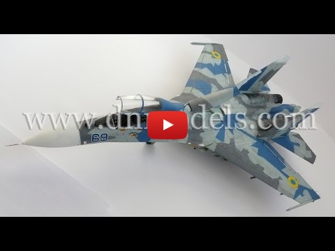 Embedded thumbnail for Quick Build - Sukhoi Su-27UB Flanker-C Ukraine Air Force 1/32