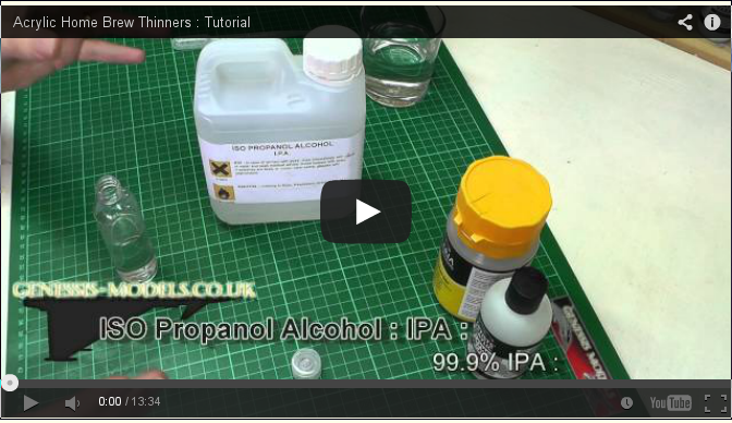 Advanced Tips: Acrylic Home Brew Thinners VIDEO Tutorial