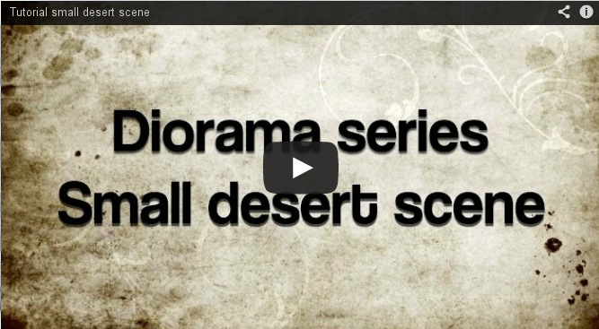 Back to Basics: building terrain for a desert diorama