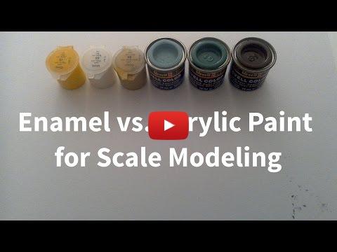 Enamel Vs Acrylic Paint For Scale Modeling Plastic